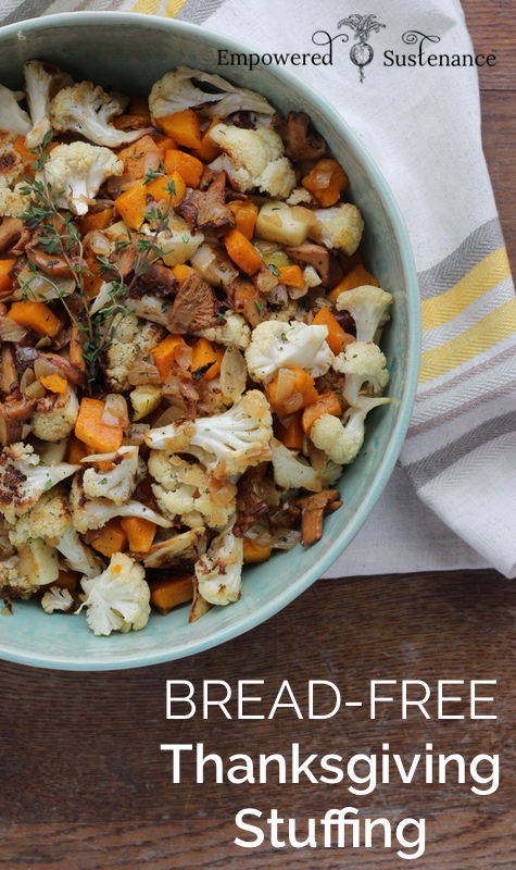 Bread-free paleo holiday stuffing recipe