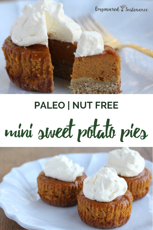 image of paleo mini sweet potato pies