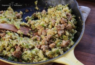 Paleo sausage and brussels sprouts hash recipe
