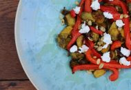 Curry Brussels Sprouts with Pepper and Pepitas