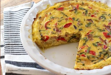 Bacon Quiche with Spaghetti Squash Crust