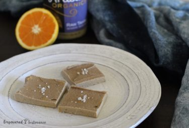 Orange Tahini Freezer Fudge