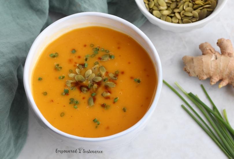 Ginger, butternut, pear soup
