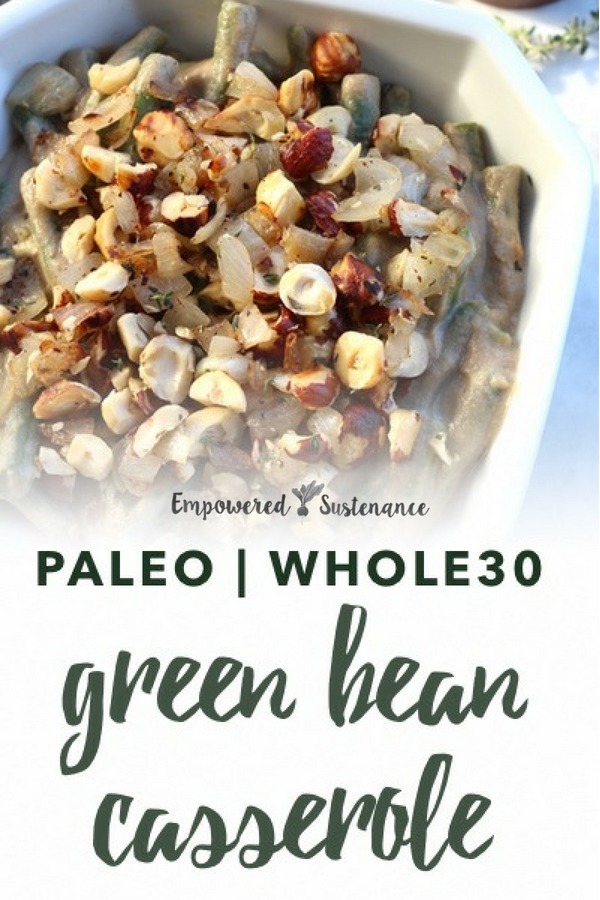 image of paleo green bean casserole
