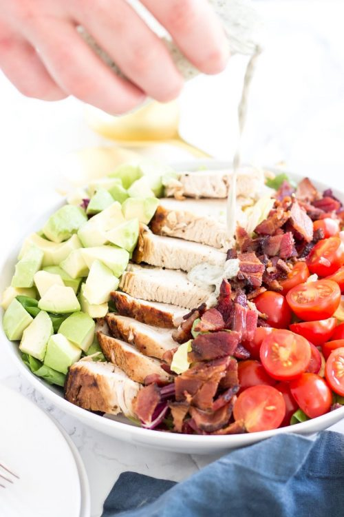 Turkey BLT Salad with dairy-free ranch
