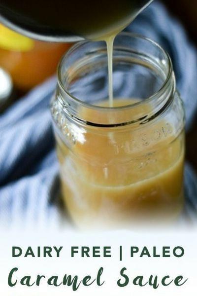 image of dairy free caramel sauce