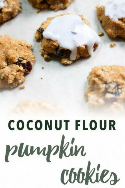 image of paleo coconut flour pumpkin cookies