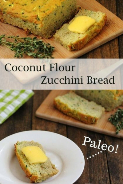 image of coconut flour zucchini bread