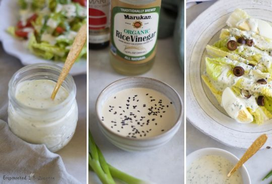 Creamy Paleo Salad Dressing, Three Ways