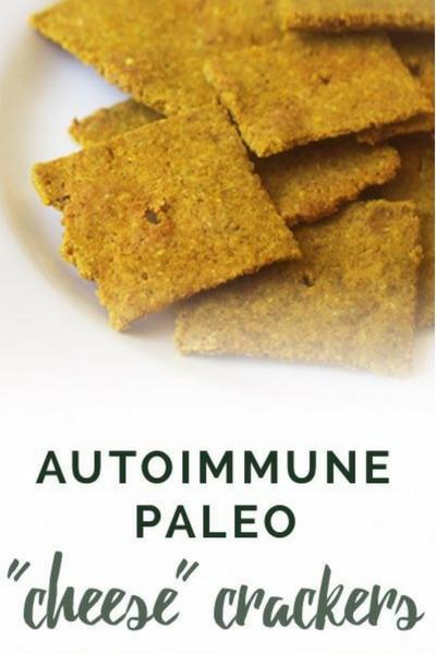 image of autoimmune paleo cheese crackers