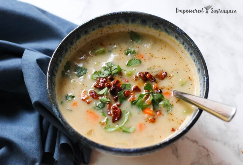paleo bacon cauliflower soup 2