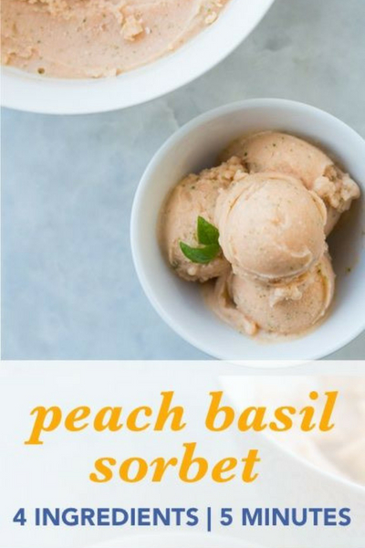 image of peach basil sorbet