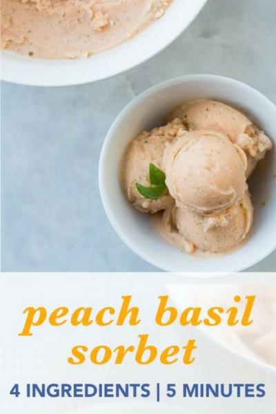 image of peach basil sorbet