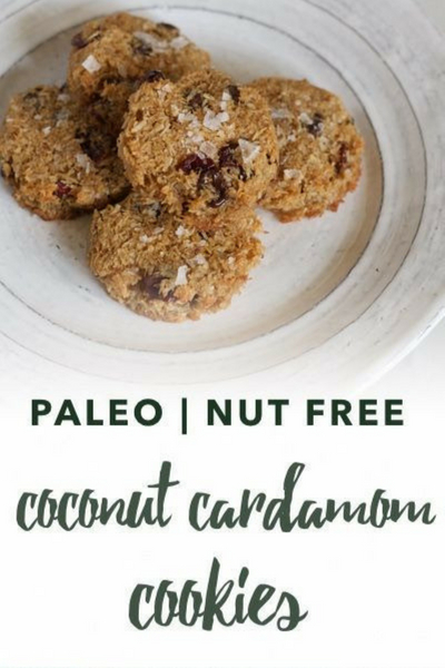 image of paleo coconut cardamom cookies