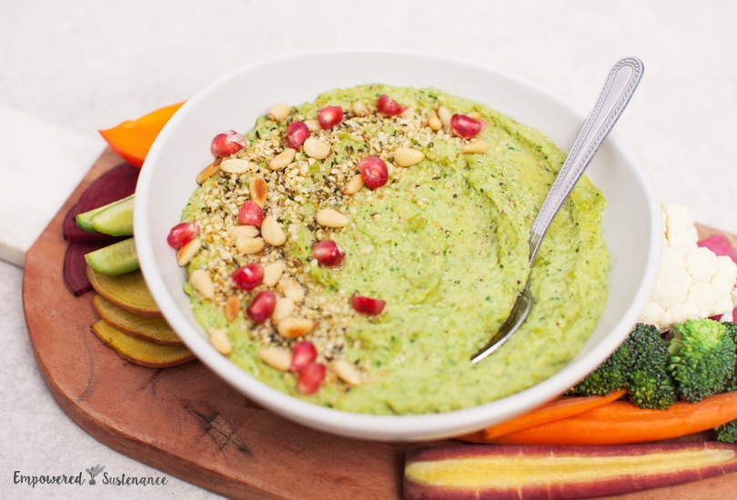 Paleo green pea hummus recipe