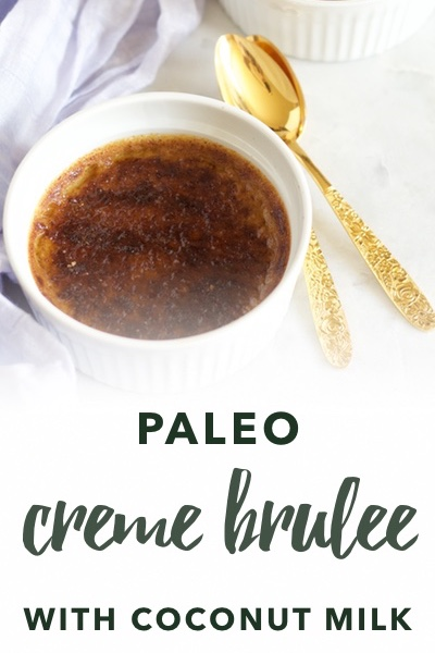 image of paleo creme brulee with coconut milk