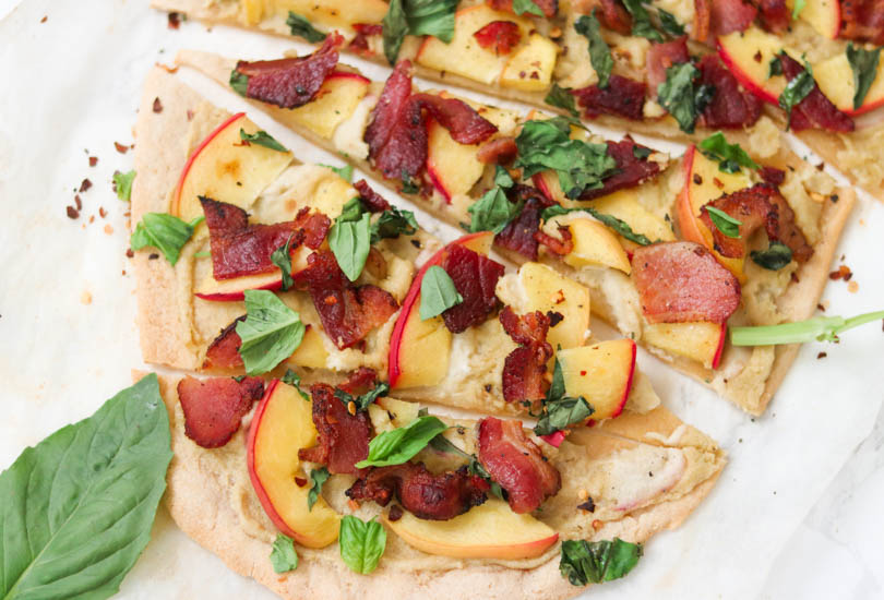 Image of Peach and Bacon Paleo Flatbread