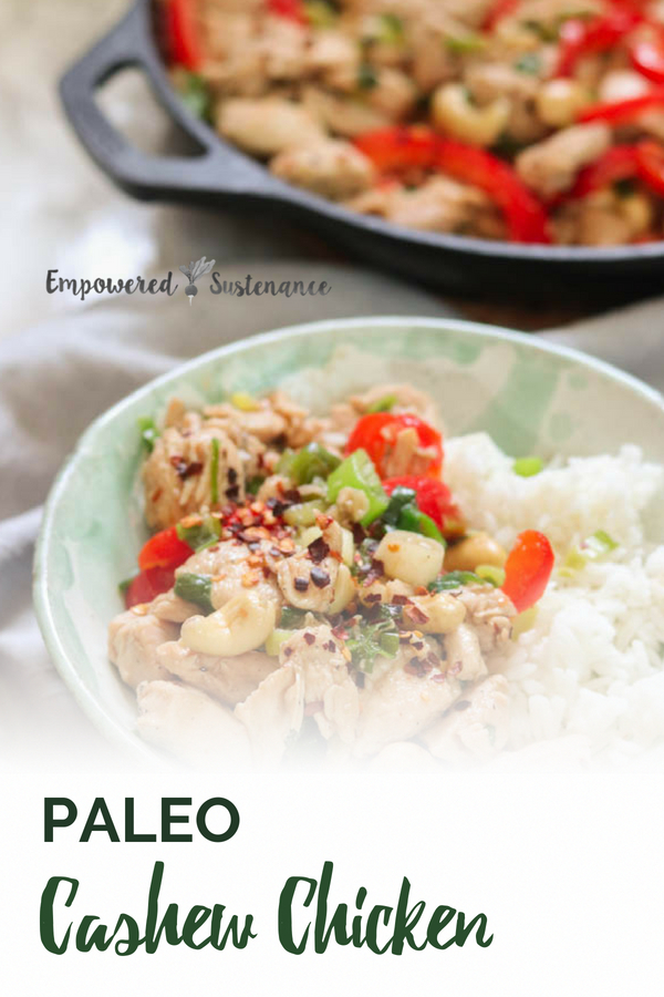 image of paleo cashew chicken