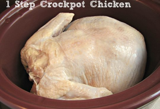 Crockpot Roasted Chicken + Broth