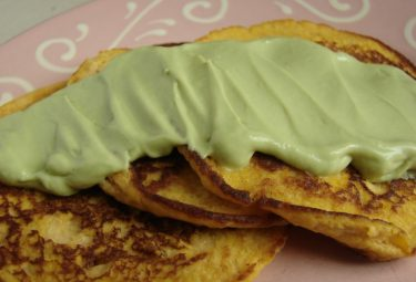 low carb, high protein pancakes with avocado