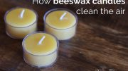 how beeswax candles clean air