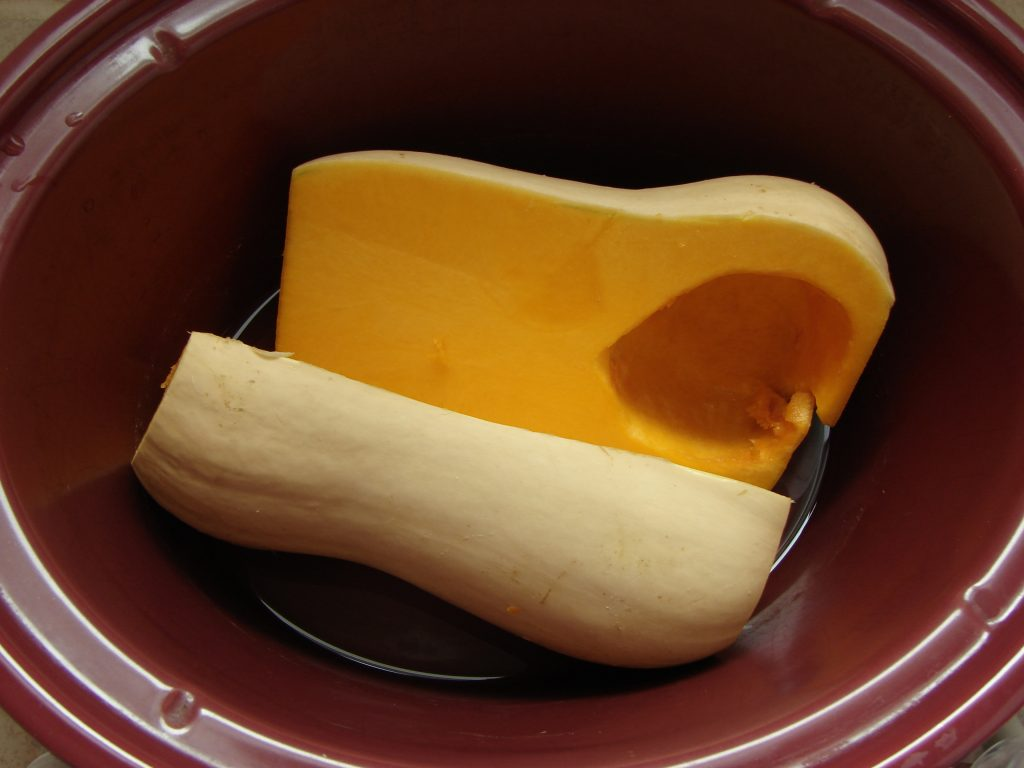 How to cook butternut squash in your crockpot!