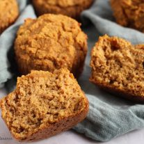 Coconut flour pumpkin muffins recipe