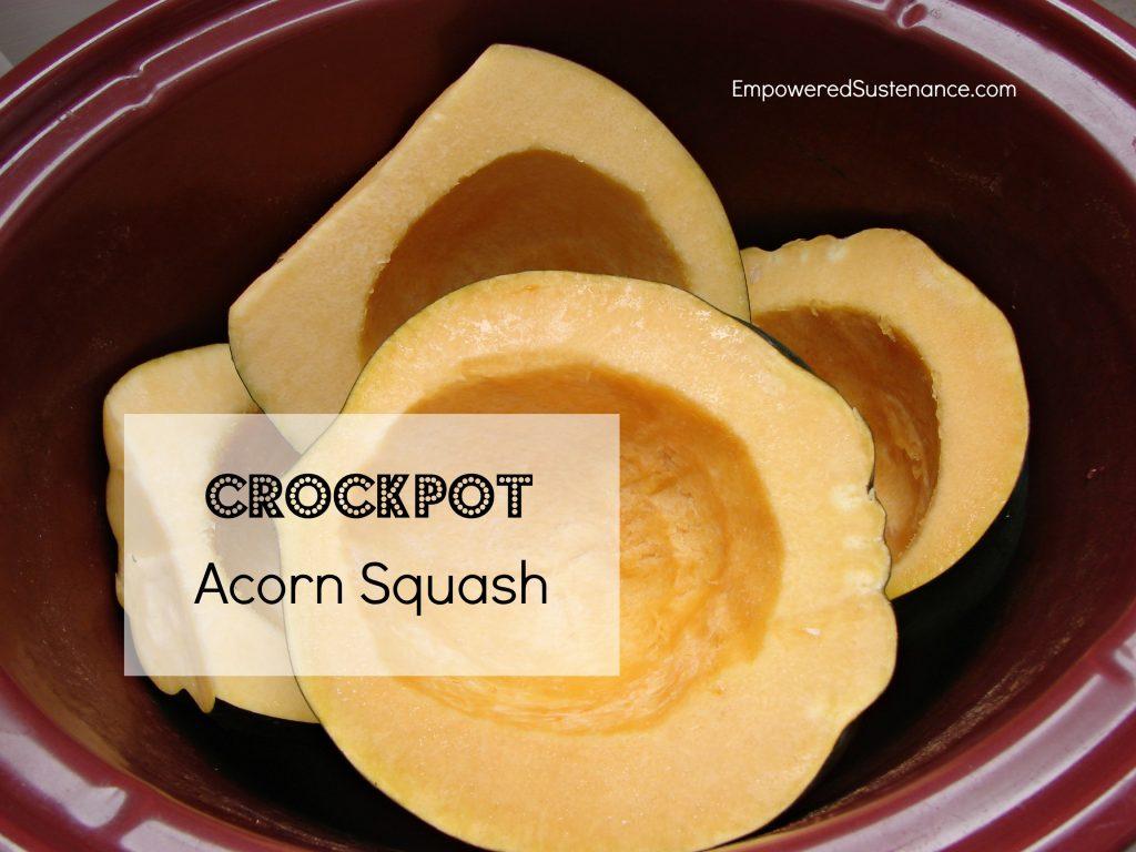 Crockpot acorn squash