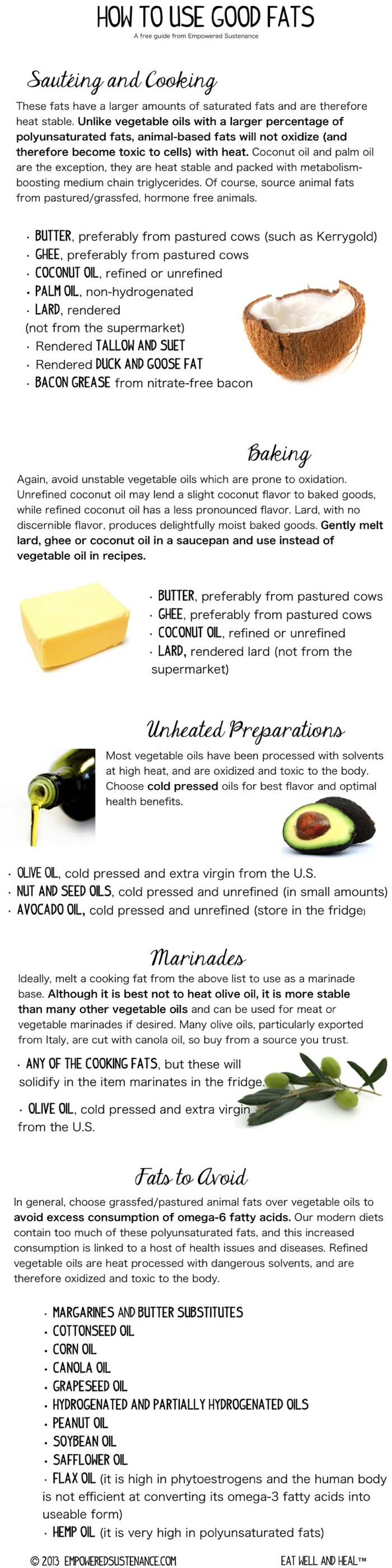 how to use good fats chart