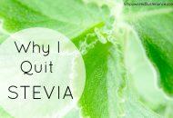 Why I Quit Stevia
