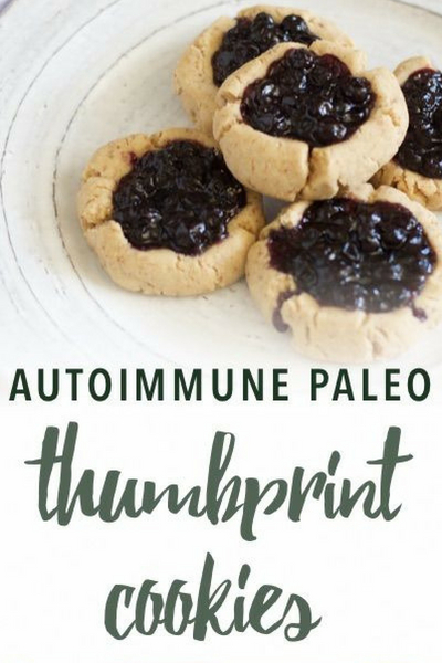 image of autoimmune paleo thumbprint cookies