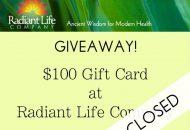 Radiant Life Giveaway Winner
