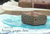 Coconut Flour Banana Ginger Bars
