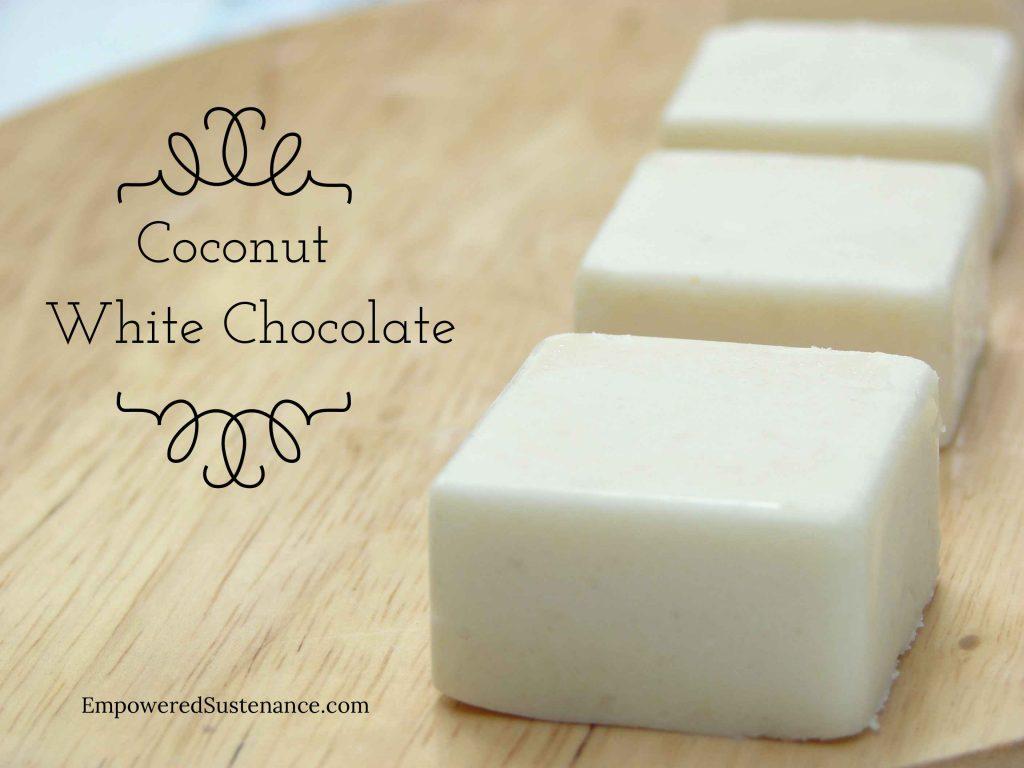 coconut white chocolate (scd, gaps, paleo diet)