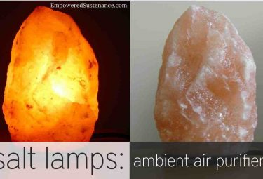 Salt lamps purify the air naturally