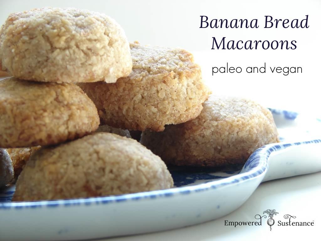 Paleo Banana Bread Macaroons (Egg free)