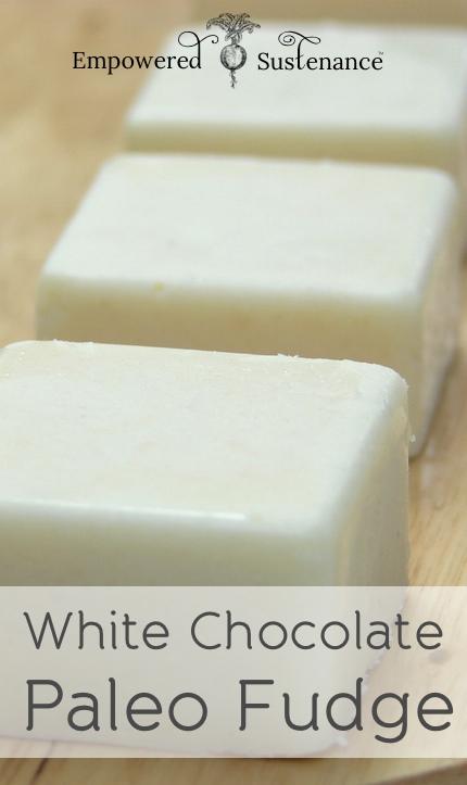 White Chocolate Paleo Fudge