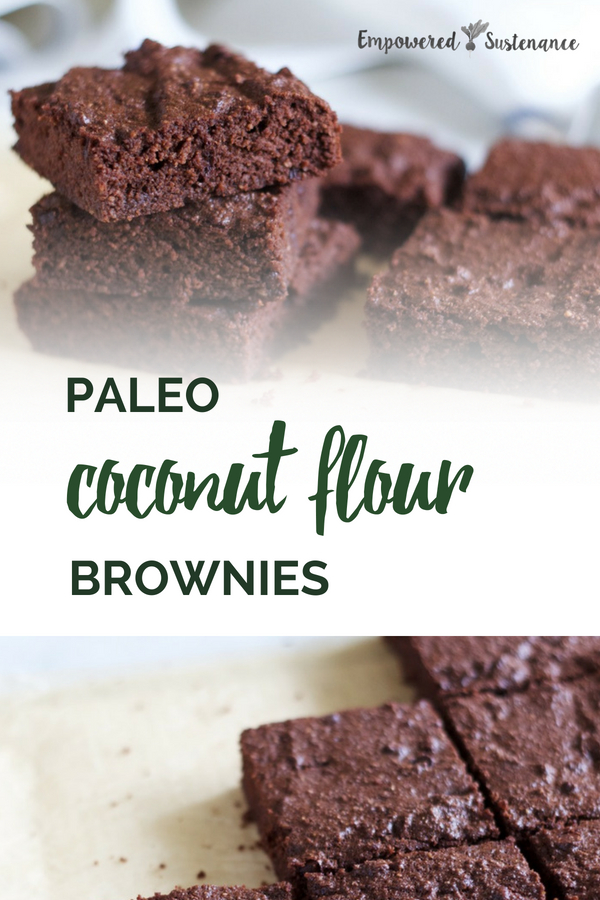 Paleo Coconut Flour Brownies are moist, dense and fudgy enough to satisfy any brownie connoisseur. Made with coconut flour and coconut oil, no one will guess that they are gluten-free, grain-free, refined sugar free, and dairy free to reduce inflammation and improve wellbeing! #paleodessert #coconutflour #healthy #glutenfree #paleodiet #paleorecipe #paleosnack #dairyfree #eggfree #sugarfree #nutfree