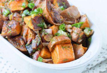 paleo sweet potato salad with bacon and lime