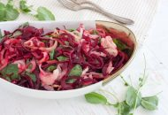 Warm Beet, Kohlrabi and Watercress Salad