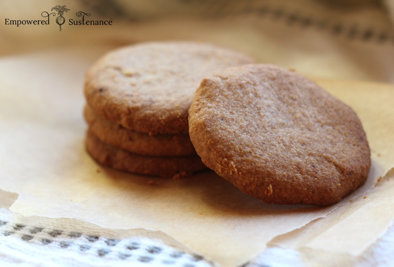 paleo shortbread cookies with coconut flour