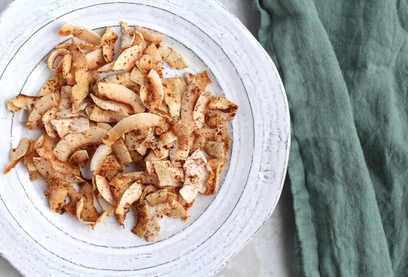 Coconut chips recipe | Cinnamon Sugar Coconut Chips