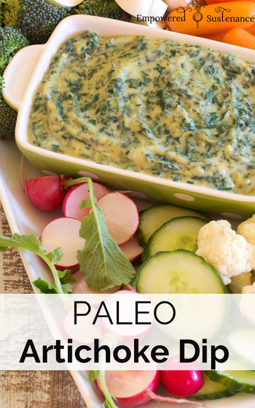 image of paleo spinach artichoke dip