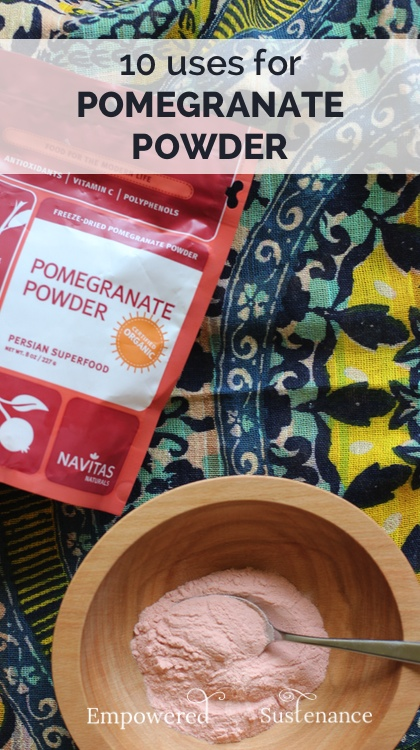 pomegranate powder uses 4