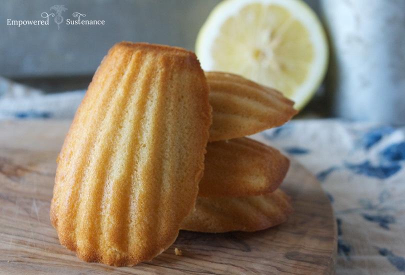 Lemon paleo madelines recipe