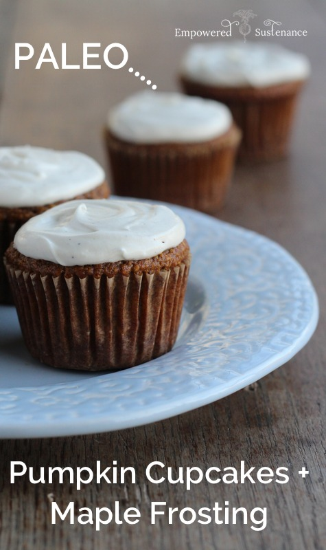 Paleo Pumpkin Cupcakes With Maple Frosting