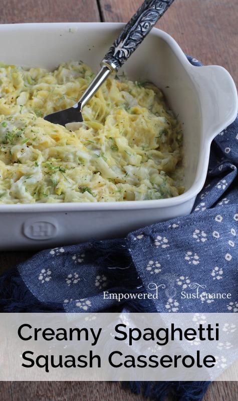 Paleo creamy spaghetti squash casserole recipe