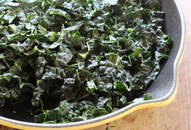Butternut squash noodles with kale and chevré - a vibrant five-ingredient dish!
