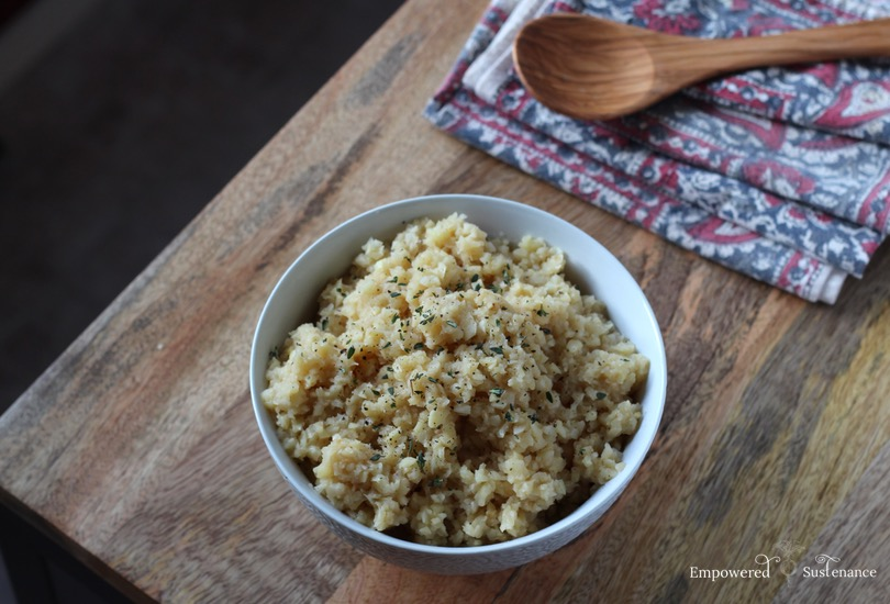 Easy paleo risotto recipe: it features parsnips instead of rice!
