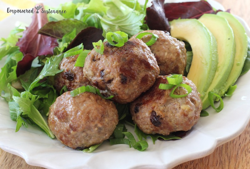 Easy lamb meatballs with five-spice and currants